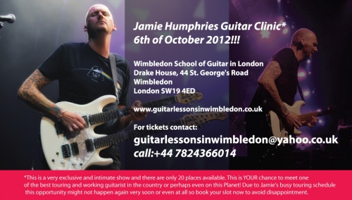 JAMIE HUMPHRIES AT WIMBLEDON SCHOOL OF GUITAR
