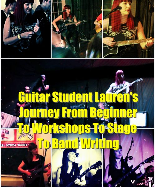 Guitar Student Lauren's Journey – Beginner To Workshop To Stage To Band To Writing