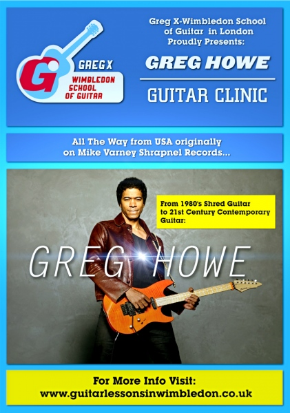 Greg Howe 2013 Tour