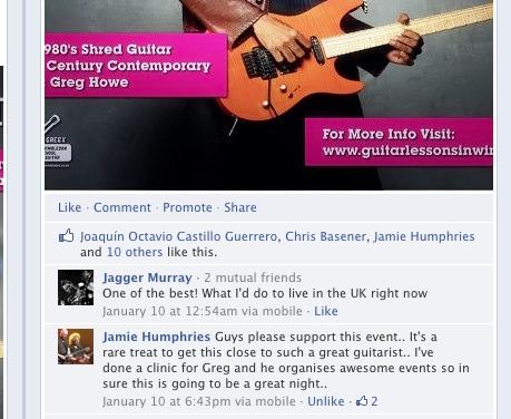 Greg X-Greg Howe Guitar Clinic 2013