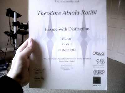 London Rock School Gardes -Theo Rock School Grade 1