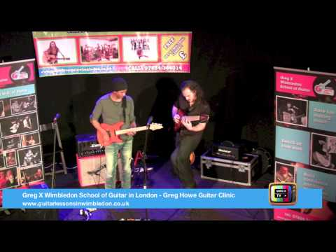 Greg Howe Jamming With Alex Hutchings At Wimbledon School Of Guitar Event In London 24.03.2013