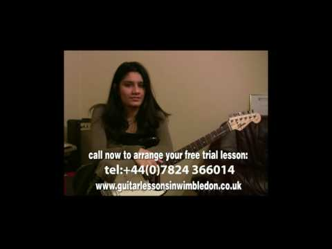 Student Zara Sharing Her Story About Guitar Lessons In Wimbledon With Greg