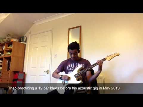 14 Year Old Student Theo Playing A 12 Bar Blues!