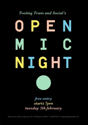 OPen Mic Tooting Tram And Social