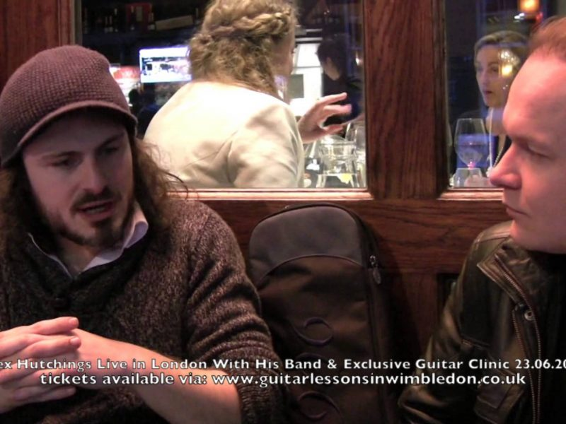 Interview With Alex Hutchings Recorded At The Heart Of London In Soho, 29th Of May 2013