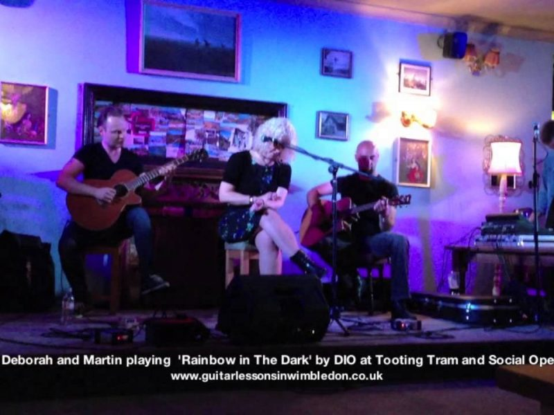 Tooting Tram And Social Open Mic Performance: Deborah, Greg And Martin