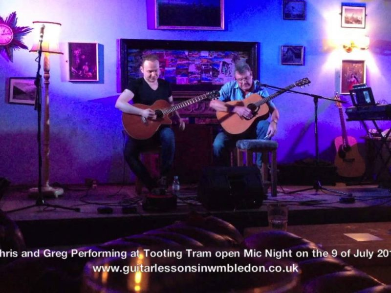 Chris – Most Improved Student Of The Month Performing With Me At Tooting Tram And Social Tuesday Open Mic