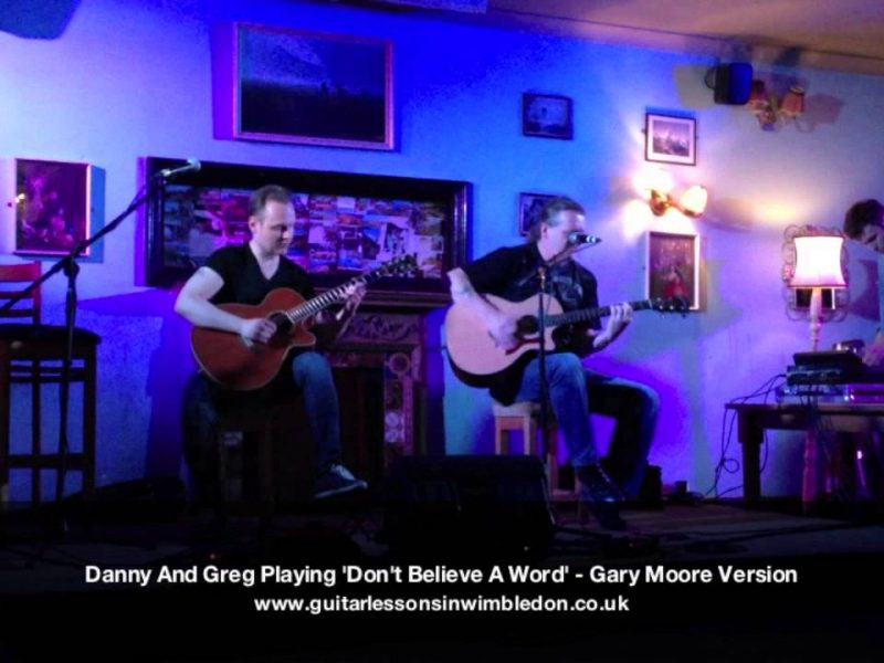 Danny And Greg Performing Thin Lizzy 'Don't Believe A Word' – Gary Moore Version. Tooting Tram And Social Open Mic Night