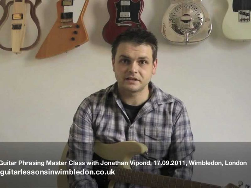 Blues Phrasing Masterclass With Jonathan Vipond, The Founder Of Music Nation In Leeds And Bradford