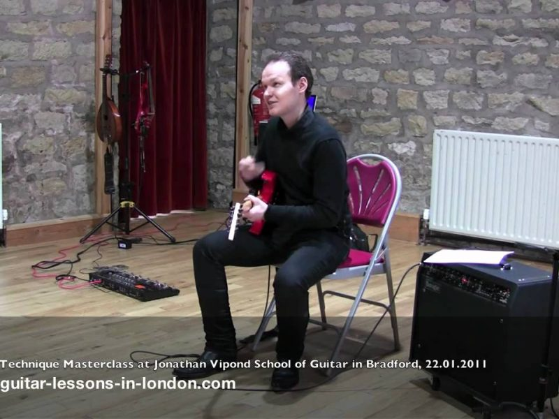 Watch Greg Giving A Masterclass In Bradford At Jonathan Vipond's School Of Guitar