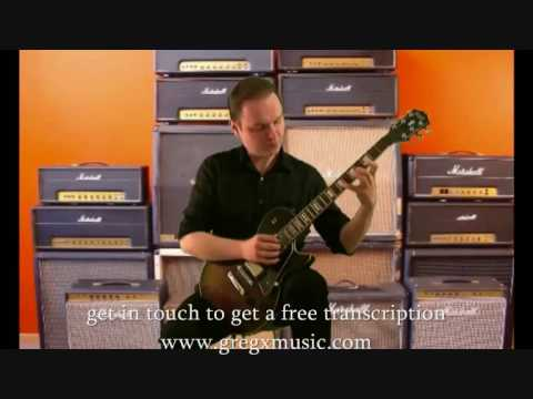 Pachelbels Canon In D Major- Sweep Picking Variations By Greg X