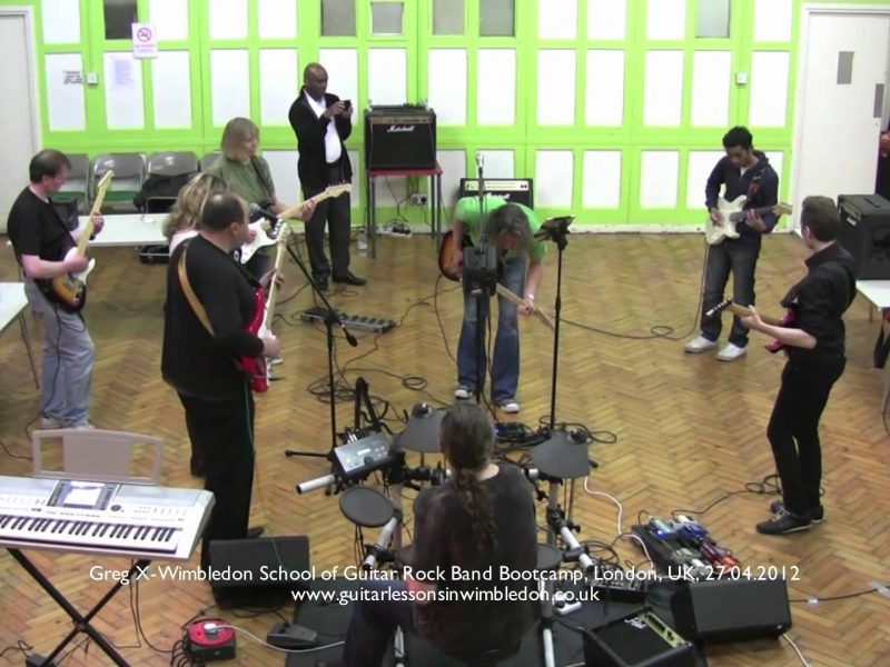 Congratulations To Students Who Attended The Rock Band Bootcamp At Wimbledon School Of Guitar On The 27.04.2012