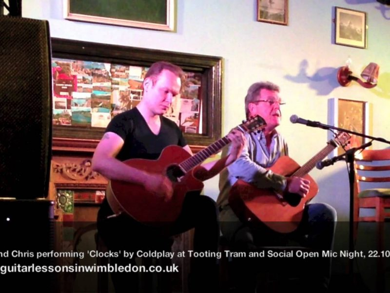 My Student Chris Performing His Favourite Songs At Tooting Tram And Social Open Mic Night. 22.10.2013