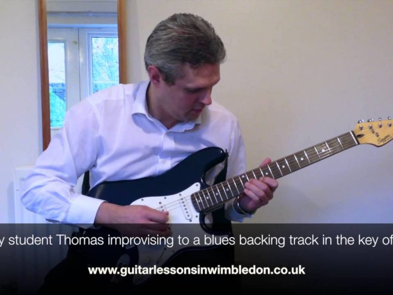 Congratulations To My New Student Thomas For Completing The First Month Of Lessons. Watch Thomas Improvising To Peter Green Style Blues Backing Track.Blues Guitar Lessons In London