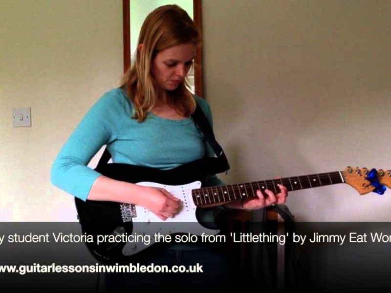 Congratulations To My Student Victoria For Learning The Solo Of Her Favourite Song 'Littlething' By Jimmy Eat World