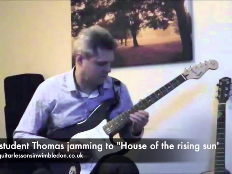 Watch My Student Thomas Jamming To 'House Of The Rising Sun' By The Animals