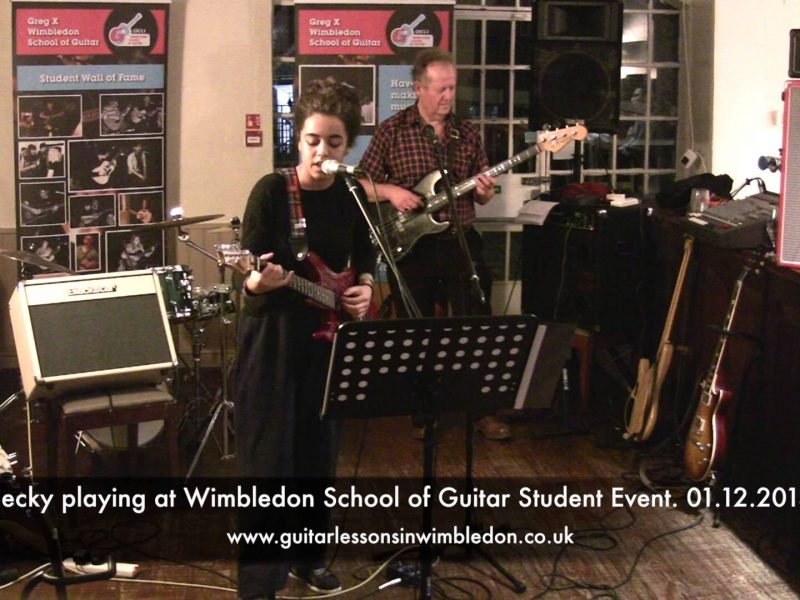 Congratulations To Becky For Singing At Her First Open Mic Night! Check Becky Playing At Tooting Tram And Social Open Mic Night And At Recent Student Event!