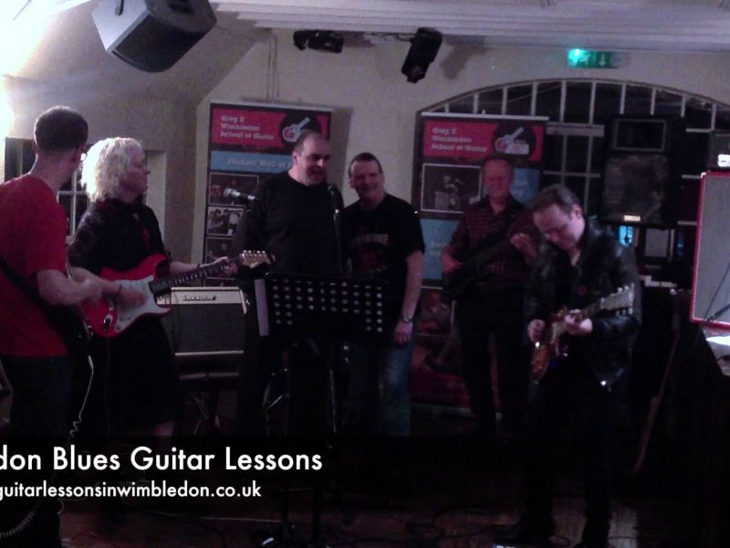 London Blues Guitar Lessons: Rock This Town-Stray Cats Cover Played By Students At Band Performance Workshop 01.12.2013