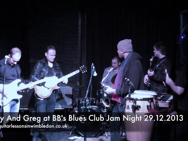 Blues Guitar Lessons In Wimbledon: Congratulations To Andy For Jamming At BB's Blues Club Jam Session In Abbey Mills.