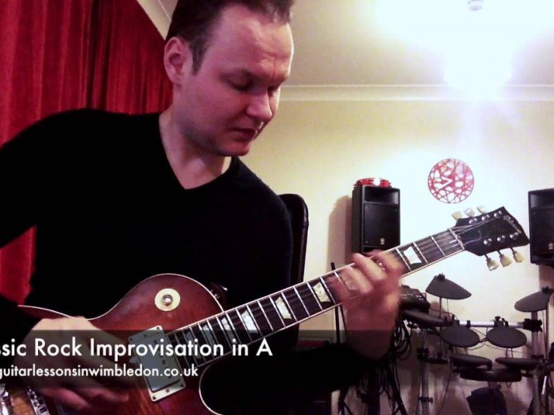 Classic Rock Guitar Lessons In London And Via Webcam: Learn To Improvise To Classic Rock Tracks Like Sweet Home Alabama, Free Bird And All Right Now!!!