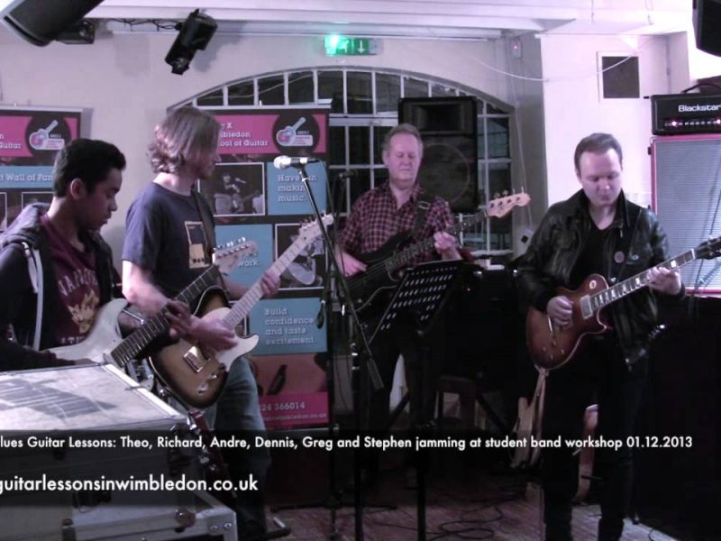 LONDON BLUES GUITAR LESSONS:STUDENTS OF WIMBLEDON SCHOOL OF GUITAR PLAYING COCAINE BY ERIC CLAPTON