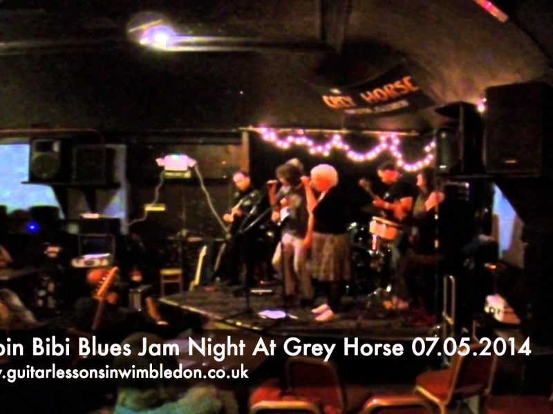 Blues Jam Night At The Grey Horse In Kingston Upon Thames.