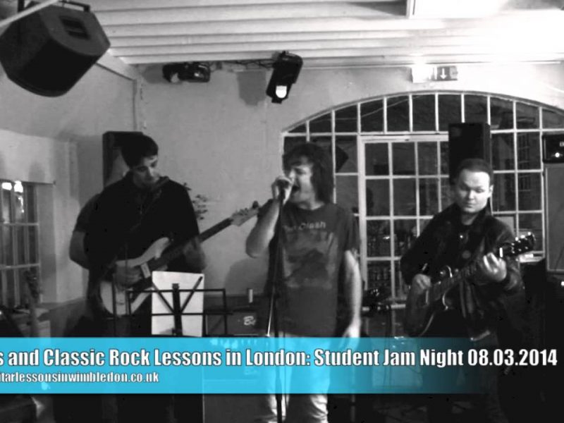 London Rock Guitar Lessons: Born To Be Wild At Student Jam Night 8.3.2014