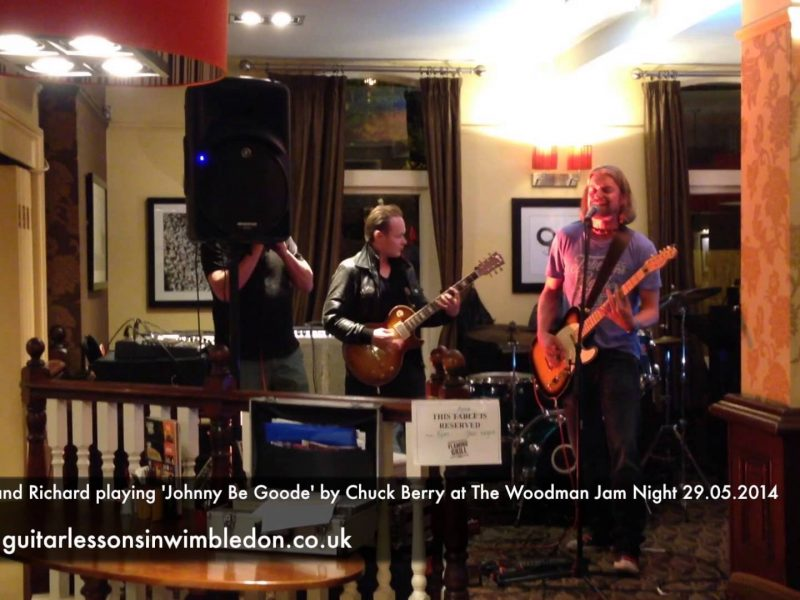 Richard And Greg Playing Johnny Be Goode By Chuck Berry At The Woodman Jam Night 29.05.2014
