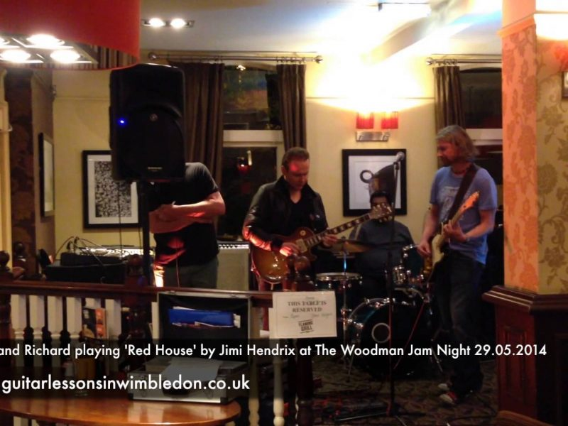 Greg Playing Red House With His Student Richard At The Woodman Jam Night In Wimbledon Park 29.05.2014