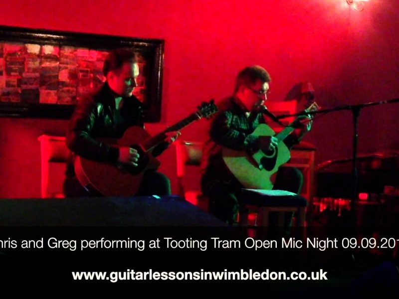 Greg And His Student Chris Performing At Tooting Tram Open Mic Night 09.09.2014