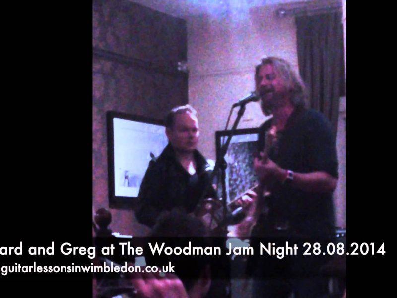 Greg And His Student Richard At The Wooodman Jam Night  In Wimbledon Park 28.08.2014
