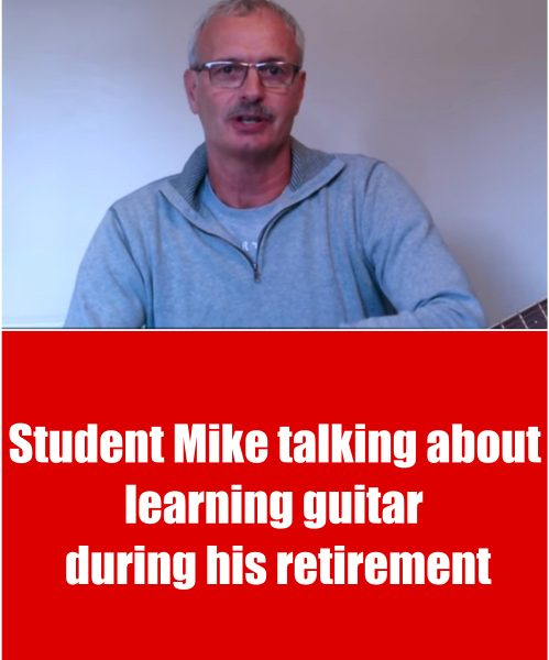 Retired Student Mike Talking About Learning Guitar With Greg