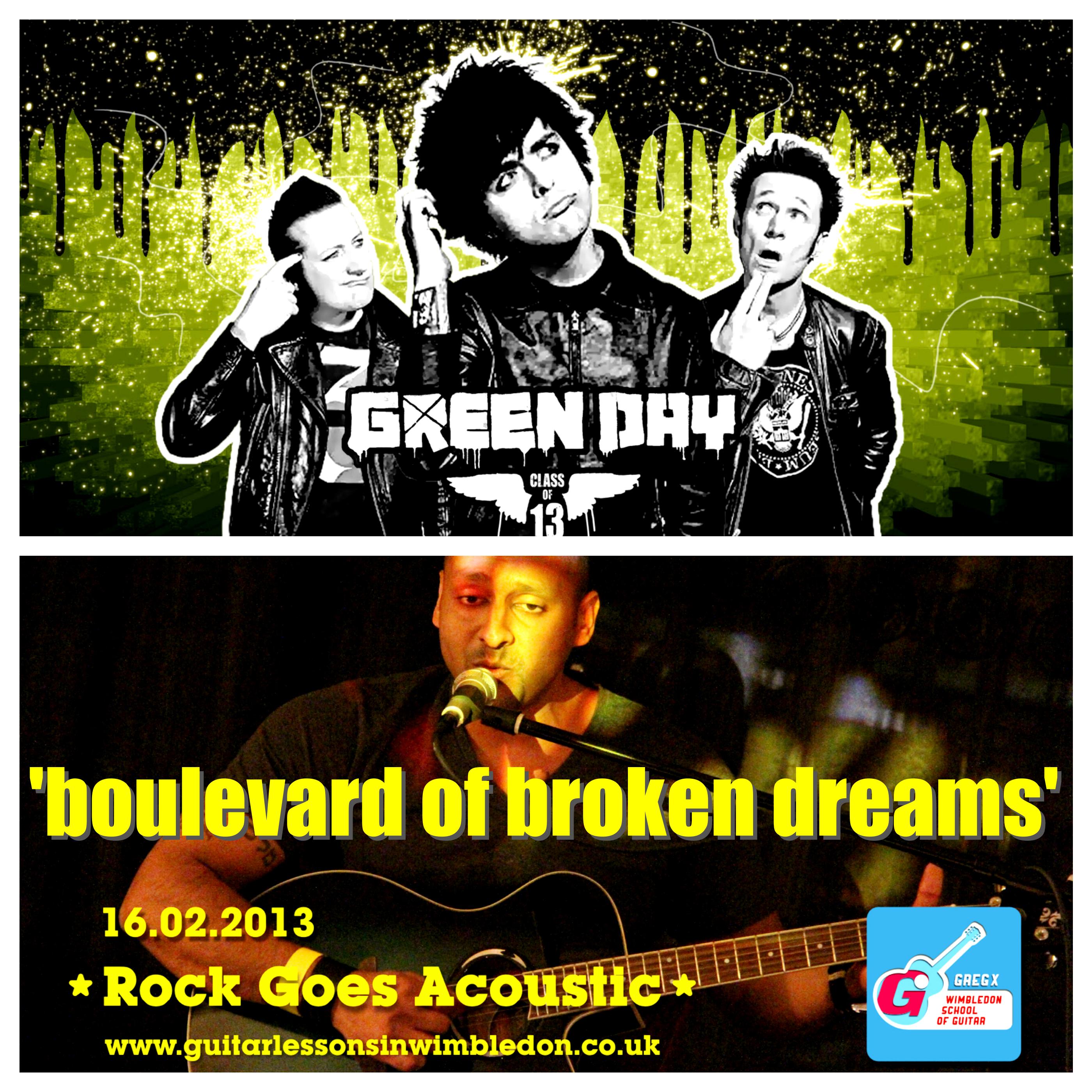 "My Student Vik Performing Green Day's ""Boulevard Of Broken Dreams"""