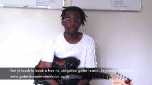 MY STUDENT SAM, FROM CROYDON SHARING HIS EXPERIENCE FROM HIS GUITAR LESSONS
