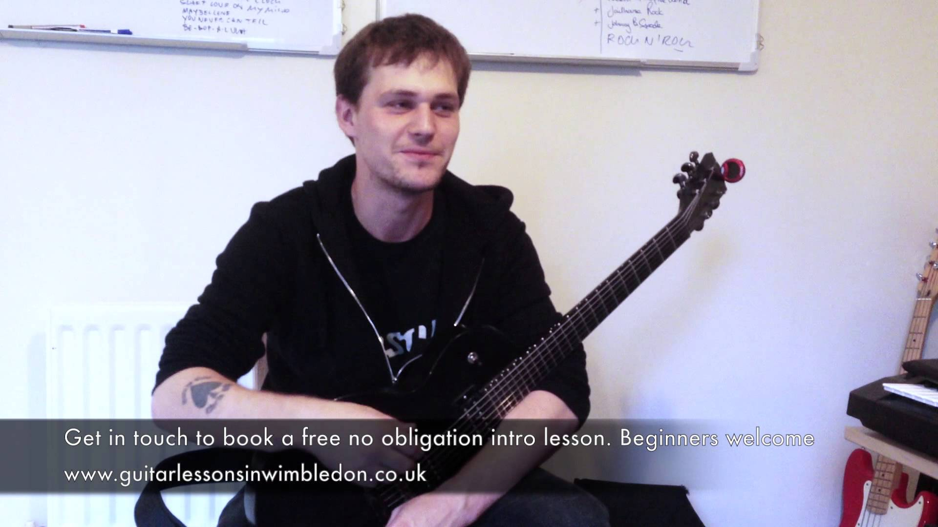 Student Danny Talking About His Guitar Lessons With Me