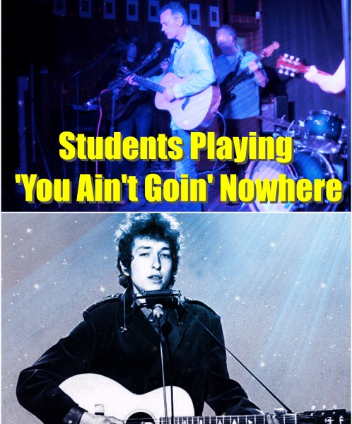 Student Showcase November 2015. Ben And Avra Performing Bob Dylan's You Ain't Goin' Nowhere!