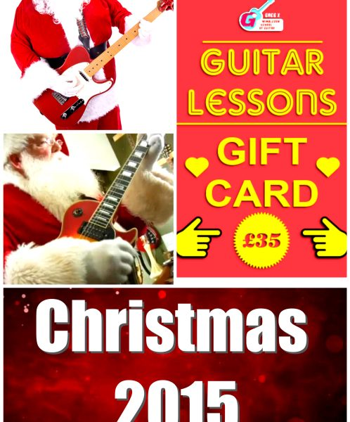 Guitar Lessons As Christmas Present