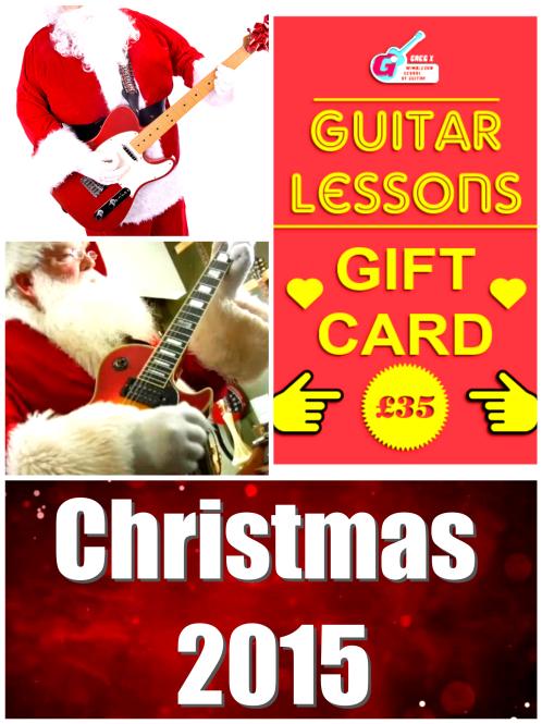 Guitar Christmas Vouchers