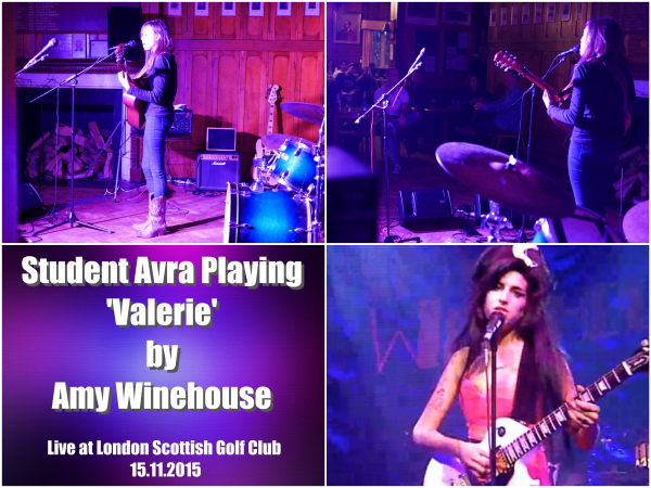 Student Avra Playing Valerie By Amy Winehouse Live At The Student Event 15.11.2015