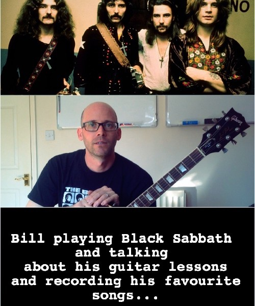 New Testimonial From Student Bill & Black Sabbath Cover