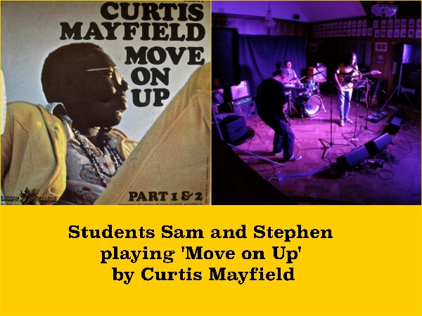 Students Sam And Stephen Playing 'Move On Up' By Curtis Mayfield