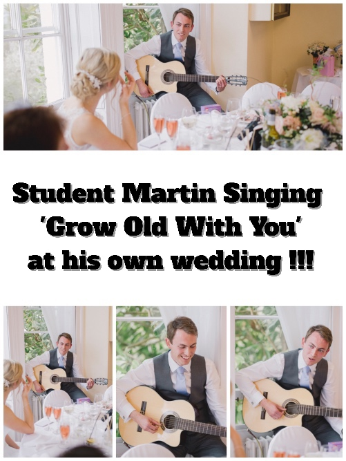 Student Martin Playing Guitar And Singing At His Own Wedding!