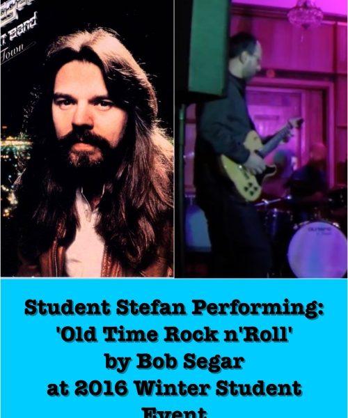 Student Stefan Performing Old Time Rock N' Roll By Bob Segar