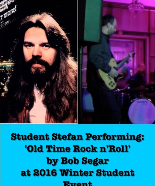 Student Stefan Performing Old Time Rock N' Roll By Bob Segar