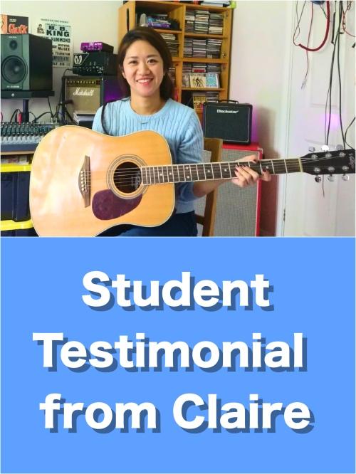 Claire Testimonial -Wimbledon Guitar Lessons