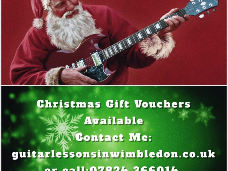 Guitar Lessons Gift Vouchers In London